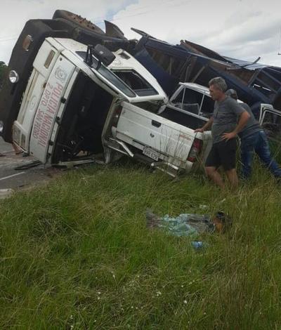 Camión de la Policía ocasiona accidente en San Bernardino