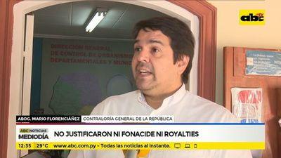 Municipios no rindieron cuentas de Fonacide y royalties