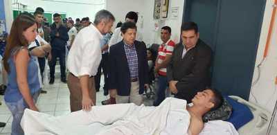 Ministro del Interior afirma que uno de los agentes del Grupo Lince sigue en Terapia Intensiva