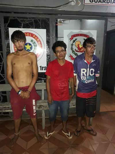 Tres detenidos al intentar violentar una casilla en el microcentro