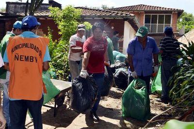 Allanaron varias  viviendas en un barrio de Ñemby