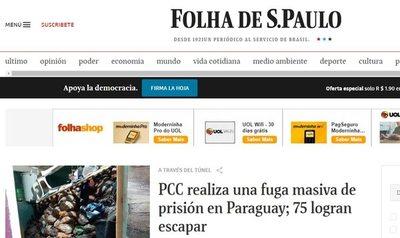 Fuga de reos en Pedro Juan tuvo masiva repercusión en la prensa internacional