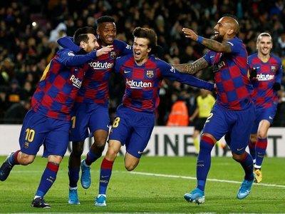 Messi le regala la primera victoria a Quique Setién