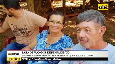 Lista de fugados de penal de PJC: Incluyeron a hombre que vive en su casa y sufre parkinson
