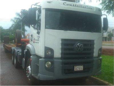 Comuna de Katuete usa camión clonado y de dudoso origen