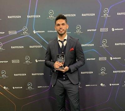 Alderete ganó el premio de la Swiss Football League