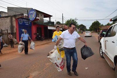 Minga ambiental en cuatro barrios nepomucenos