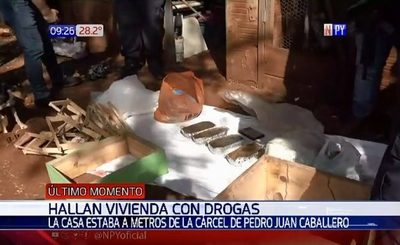 Hallan drogas en inmediaciones de cárcel de Pedro Juan