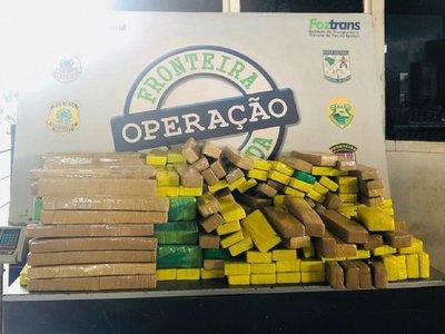 Incautan más de 260 kilos de marihuana en Puente de la Amistad
