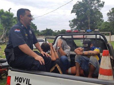 Capturan a sospechosos de realizar hurtos en Coronel Bogado