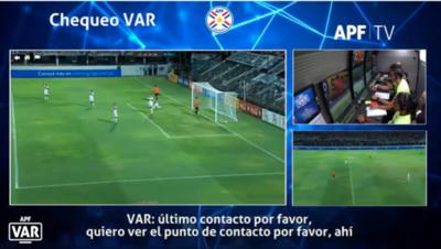 La conversación del VAR en la polémica jugada de Olimpia-General Díaz