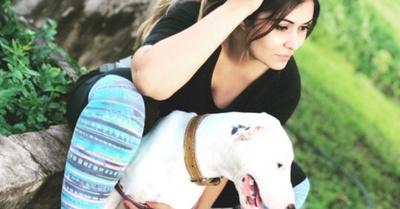 ¡Exmodelo fue salvada de un robo por su perro!