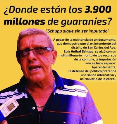 Luis Aníbal Shcupp sigue impune por impericia del Ministerio Público