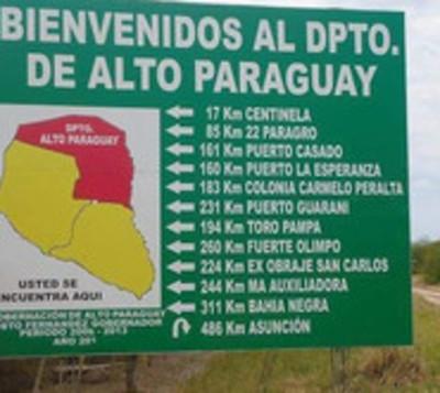 Alto Paraguay con emergencia departamental