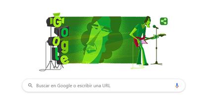 """Google dedica su """"doodle"""" a Luis Alberto Spinetta, mito del rock argentino"""