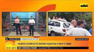 Ciudad del Este: Nuevo conflicto entre taxistas, Muv y Uber