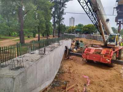 Esta semana iniciarán los montajes de los linteles y vigas del futuro viaducto Primer Presidente