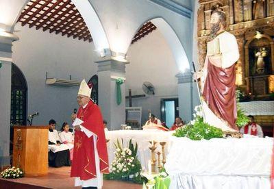 Fiesta en honor a santo patrono en Caazapá