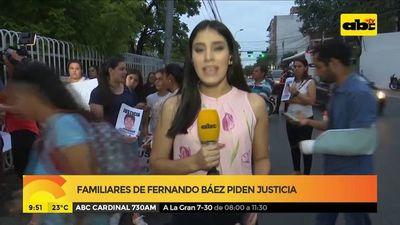 Familiares de Fernando Báez piden justicia