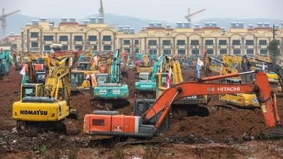En 6 días China prevé construir un hospital para combatir el coronavirus