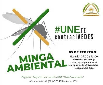 """Coordinan minga ambiental """"UNEte contra el AEDES"""""""