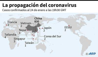 Coronavirus se propaga por países de Asia, Europa y norte de América
