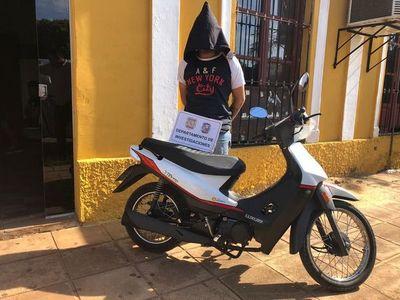 Detienen a ladrón de motocicleta en Concepción