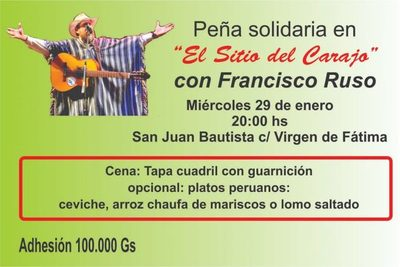 Peña Solidaria con Francisco Ruso