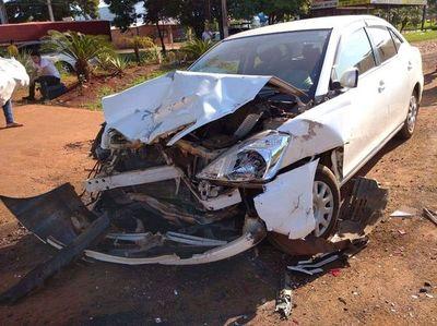 Triple choque con cuatro heridos en Minga Guazú