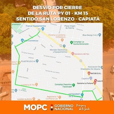 Se reactiva colocación de tuberías en San Lorenzo y se disponen desvíos vehiculares