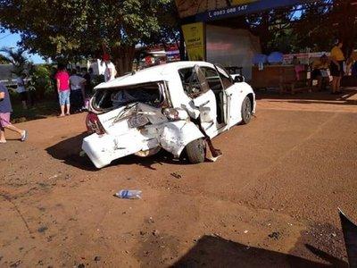 Choque en cadena deja varias personas heridas en Minga Guazú