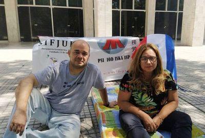 """Protesta  contra """"autoritarismo"""" de la CSJ"""