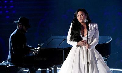 Mirá la conmovedora presentación y regreso de Demi Lovato a los escenarios en los Grammys