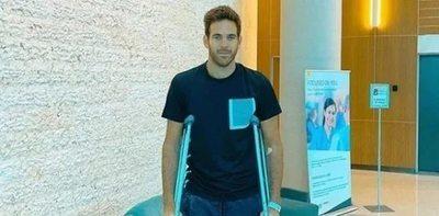 Del Potro recibe el alta médica tras una nueva cirugía
