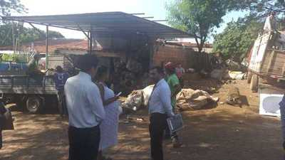 Intervención fiscal de casas abandonadas y chatarrerías en Fernando de la Mora