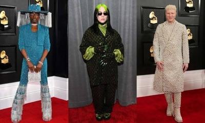HOY / Extravagantes con colores y detalles estridentes: Los peores vestidos de los premios Grammy 2020
