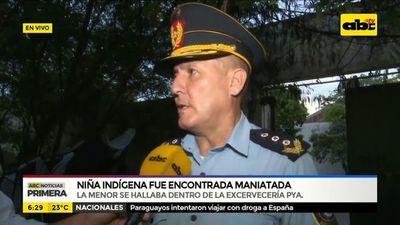 Niña indígena fue encontrada maniatada