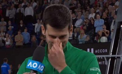 Djokovic rompe en llanto al recordar a Kobe