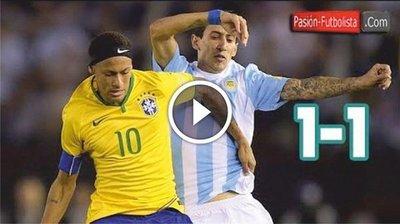 Argentina vs Brasil (1-1) Goles Resumen Resultado Eliminatorias Rusia 2018