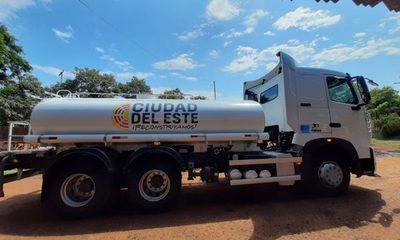 Municipalidad de CDE compra camión cisterna