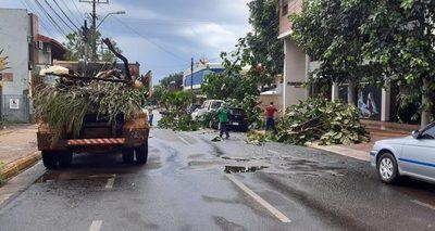 Varios departamentos en alerta por temporal