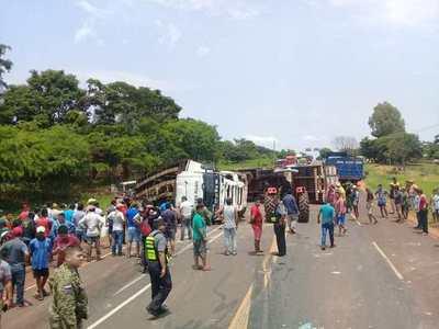 Grave accidente en la zona de Yrybukua