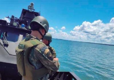 Marina brasileña refuerza patrulla en el río Paraná y el Lago Itaipú