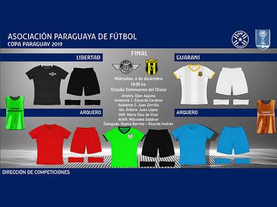 Los colores de la definición de la Copa Paraguay