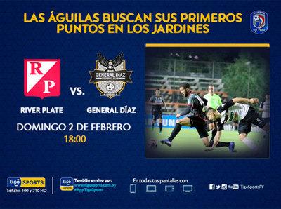 River Plate busca recuperarse y General Díaz su primera victoria