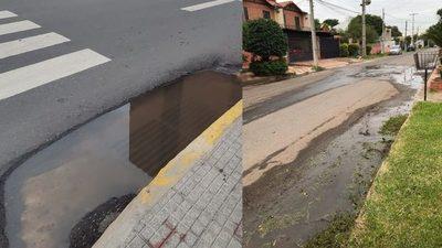 Caminos cubiertos de agua