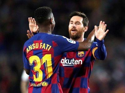 La conexión Messi y Ansu Fati, letal en un Barça a ráfagas