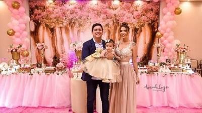 Chelo Amaral celebró el primer añito de su hija