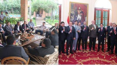 En busca de consenso, gobernadoresse reúnen con Mario Abdo y Cartes
