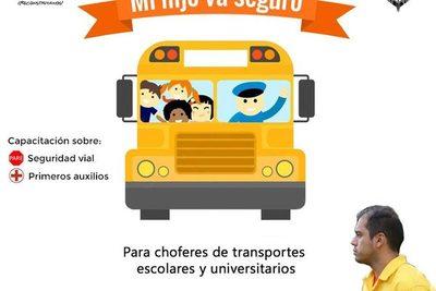 Prieto capacitará a choferes de transporte escolar y universitario